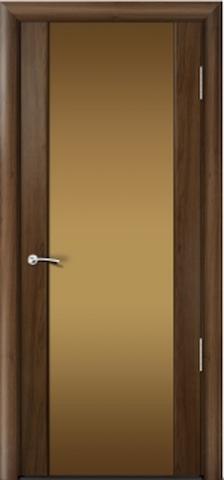 Porta Unica Сити 3 - со стеклом Бронза, <br>цвет - Американский Орех