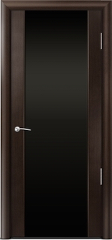 Porta Unica Сити 3 - стекло Черное, <br>цвет - Венге