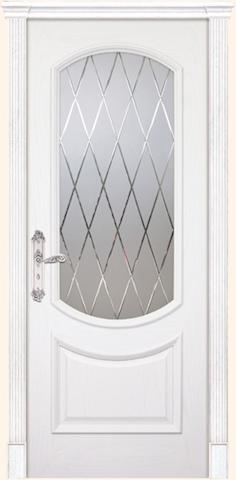 Августа 2 - гравировка Англия, стекло Графит, <br>цвет - ясень бланко