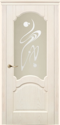 Dariano porte - Барселона, стекло Орех, <br>цвет - ясень белый