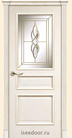 Dariano porte Чикаго - витраж Престиж,  цвет - Белый ясень
