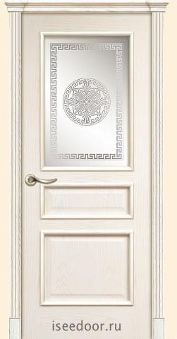 Dariano porte Чикаго - стекло Одиссей,  цвет - Ясень белый