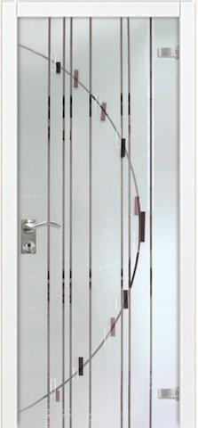 Рандеву - триплекс зеркало Рандеву, <br>цвет - кроколет перламутр