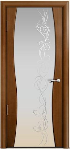 Omega 1 - широкое стекло Фантазия, <br>цвет - по шпону