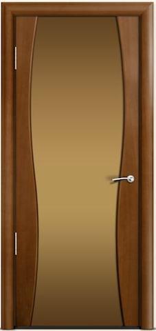 Omega 1 - бронзовое широкое стекло, <br>цвет - по шпону
