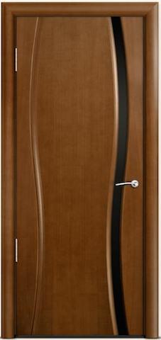 Omega 1 - черное узкое стекло, <br>цвет - по шпону