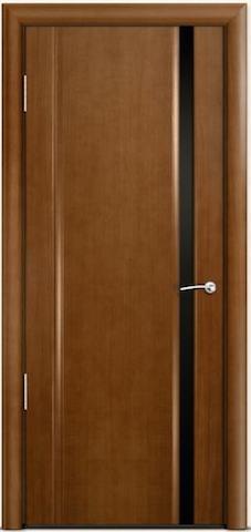 Omega 2 - узкое черное стекло, <br>цвет - по шпону