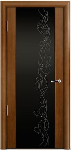 Omega 2 - стекло черное Фантазия, <br>цвет - по шпону