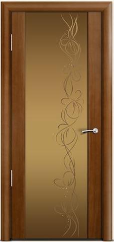 Omega 2 - стекло бронзовое Фантазия, <br>цвет - по шпону