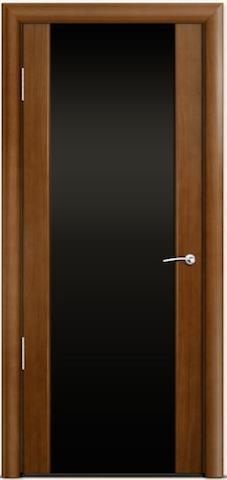 Omega 2 - стекло черное широкое, <br>цвет - по шпону