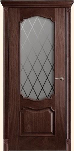 Венеция - со стеклом решетка, <br>цвет - Палисандр