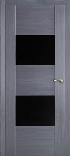Парма - с черным стеклом триплекс, серый дуб