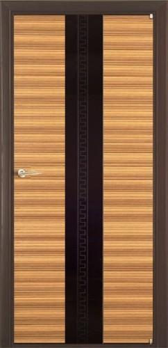 Соната - с черным стеклом триплекс, зебрано