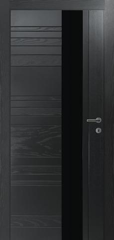 Porta Unica H1 - со стеклом матовым, <br>цвет - Граффит