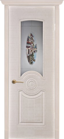 Венеция - со стеклом, <br>цвет - Белый Сатин