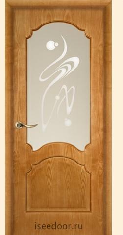 Дверь Dariano - Барселона, <br> стекло Орех, цвет ясень золото