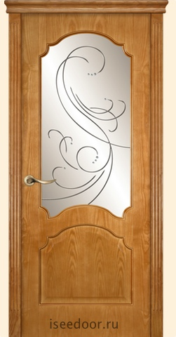 Dariano porte - Барселона, гравировка Метелица, <br> цвет ясень золото