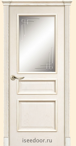 Dariano porte Чикаго - гравировка Орнамент,  цвет - Ясень белый