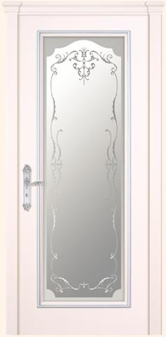Маркиза - стекло Нежность, <br>цвет - эмаль мокко