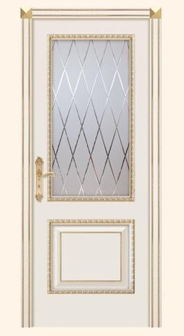Турин D - стекло решетка, эмаль слоновая кость