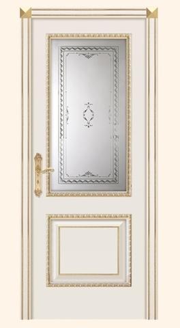 Турин D - стекло Ампир, эмаль слоновая кость