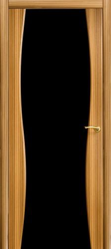 Грация - с черным стеклом триплекс, зебрано