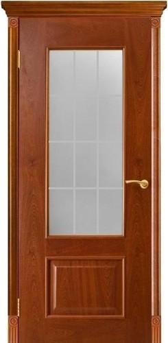 Двери Оникс Марсель - стекло РЕШЕТКА, <br>цвет - красное дерево1