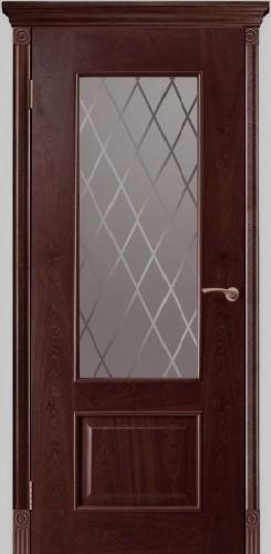 Марсель - стекло РОМБ, палисандр