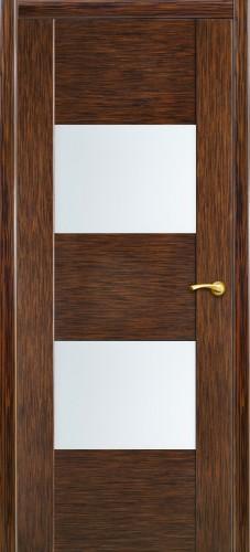 Дверь Парма Оникс - со стеклом, <br>цвет - венге-пангар