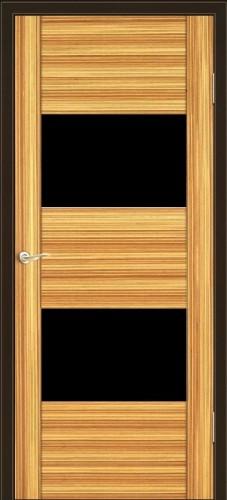 Парма - с черным стеклом триплекс, зебрано